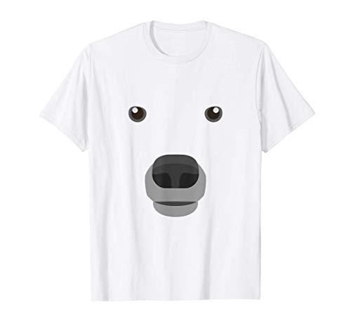 Eisbär Polarbär Gesicht Kostüm Karneval Fasching Kinder T-Shirt