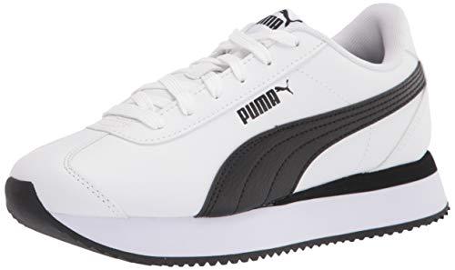 PUMA Men's Turin Sneaker White Black, 10.5
