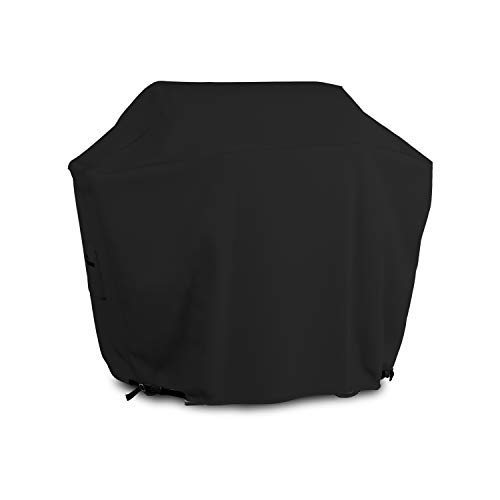 BBQ Grill Cover 12 Oz Waterproof - 100% UV & Weather Resistant Grill Cover, Fits Grill of Weber Brinkman Charbroil and More - with Air Pockets & Drawstring for Snug Fit (70 inch, Black)