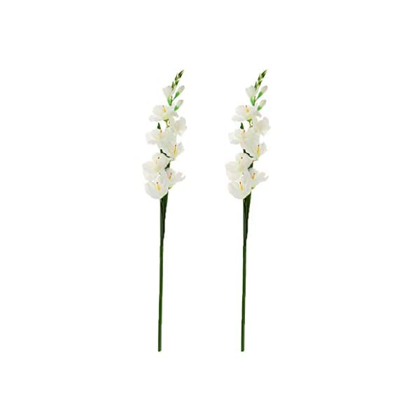 Fenteer 2 Paquetes De Flores De Gladiolos Artificiales para La Boda DIY Floral Art Plant Home Office Party Decoration