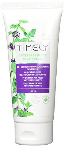 Timely, crema piedi rinfrescante antiperspirante, 100 ml