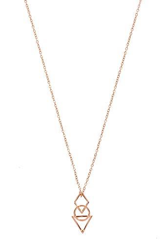 Zoeca - Halskette - Empire State - Rosé vergoldet - 925 Silber - Damen - Nickelfrei