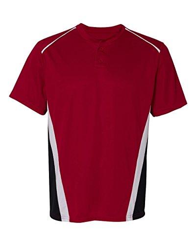 Augusta Sportswear Men'S Rbi Baseball Jersey 3Xl Red/Black/White