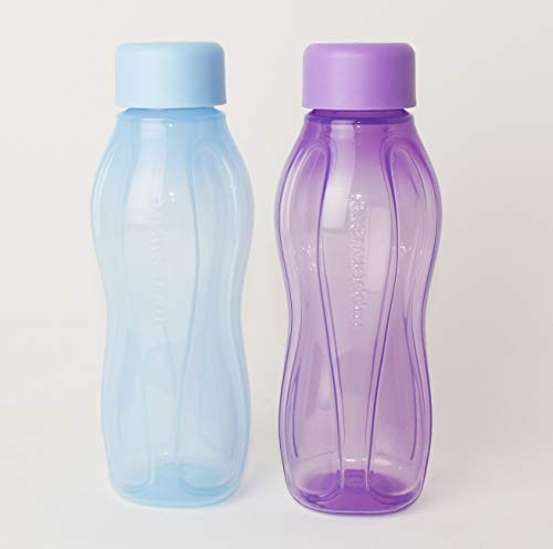 TUPPERWARE EcoEasy to Go Trinkflasche EcoEasy Ökoflasche 2X 310ml LILA/Pastell BLAU Flasche
