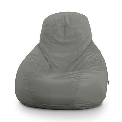 Avalon Pouf Poltrona Sacco Gigante Bag XXL Jive 100x100x110cm Made in Italy in Tessuto antistrappo Imbottito Colore Grigio