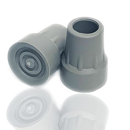 Crutch Tips,Replacement Medical Drive Cane Tips, 7/8 Inch, 2 Pcs, Gray
