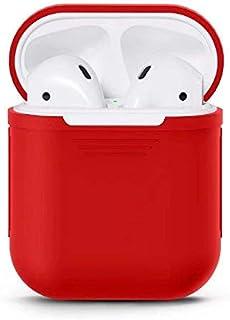 حقيبة الهيدفون والهيدسيت سيليكون - لون احمر