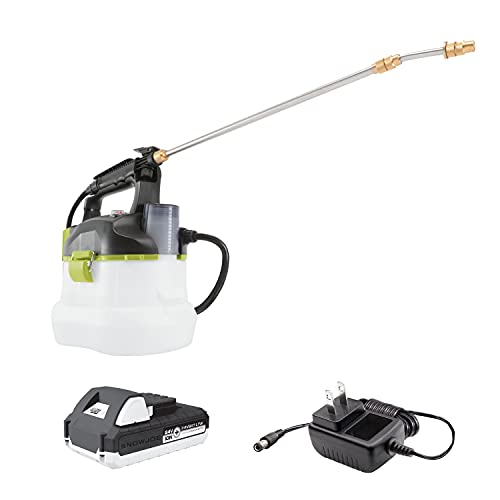 Sun Joe 24V-GS-LTW 24-Volt Amp 1-Gallon Multi-Purpose Chemical Sprayer, Kit (w/ 1.3-Ah Battery + Quick Charger)