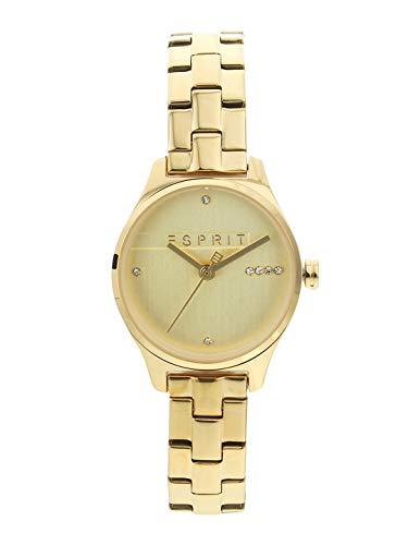 Esprit ES1L054M0065 Essential Glam Uhr Damenuhr vergoldet 3 bar Analog Gold