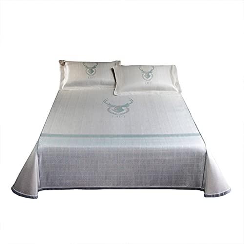 LZG Colchón de enfriamiento para Dormir de Verano - Mats de Seda de Hielo con Aire Acondicionado - Tapa de Almohada de colchón de Seda de Hielo Transpirable - Microfibra Ultra Suave
