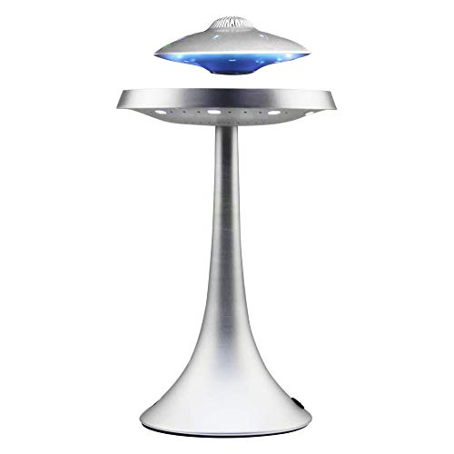 LLSS Schwebender schwebender Lautsprecher, UFO-Bluetooth-Lautsprecher, schwebender Lautsprecher, Bluetooth-Lautsprecher mit Stereoklang, Bürodekoration, einzigartige