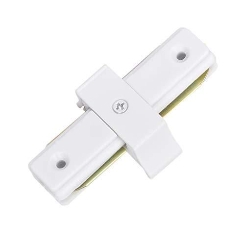 XXE LED-Schienenlicht-Adapter, 1 Meter Schiene Scheinwerfer direkte Adapter (Color : Direct Head, Size : White)