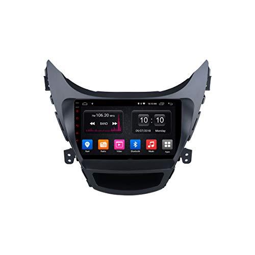 Navegador GPS Estéreo para Coche Android Unidad Principal De Radio para Hyundai Avante 2012-2016 Soporte Mirror Link/SWC/Bluetooth/USB/WiFi/Dab/AUX
