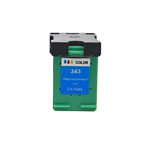 AXAX Cartucho de tóner Compatible para HP 338 343 Reemplazo para HP DeskJet 460C 5740 5745 Impresora, fotoconductor láser fácil de Instalar HD Impresión de Colores vibran Color
