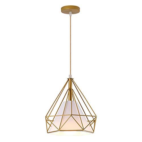 JYDQM Lampadario Moderno lampadario monotesta in Ferro Dorato, lampadario da Pranzo dal Design Geometrico