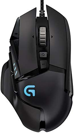Logitech G502 Proteus Spectrum RGB Tunable Gaming Mouse, 12,000 DPI On-The-Fly DPI Shifting, Personalized Weight and ...