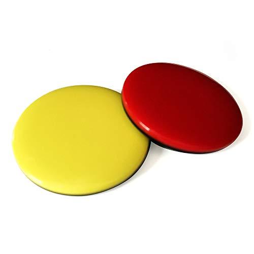 referee at work Schiedsrichter Wählmarken - Set bestehend aus roter und gelber Wählmünze