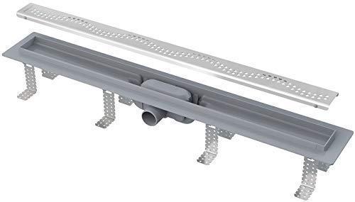 APZ8-1000 Duschrinne Ablaufrinne flach 65mm inkl. Edelstahlrost