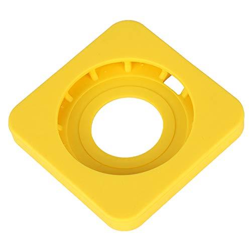 Base de silicona, diseño de borde redondo Estuche protector de cargador simple y hermoso Cómodo de usar para proteger el teléfono móvil y el cargador inalámbrico(yellow)