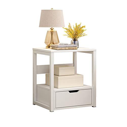 Table Basse/Table de Salon Casier Moderne de Salon de Table latérale de Sofa de Table de Chevet de Petite Table Basse avec Le tiroir Table Basse Vintage (Color : White)