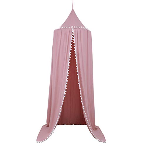 AIBAB Crêpe De Coton Nordique Décoration De La Chambre des Enfants Boule De Cheveux en Dentelle Tente Lit Bébé Moustiquaires
