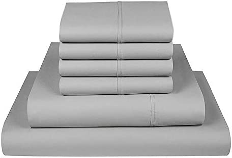 California King 750 TC Cotton Rich Sheet Set Sateen Weave Hotel Luxury Wrinkle Resistant with product image
