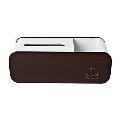WUHUAROU Despertador electrónico Bandeja de Tejido Sala de Estar Almacenamiento de Control Remoto Hogar