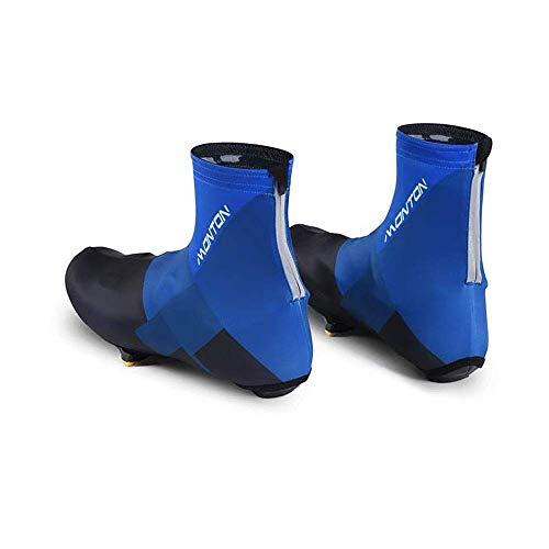 CAIJINJIN Bike Cycling shoe cover Road Bike Lock Shoes Mountain Bike Riding Shoe Cover Dustproof Outdoor Men And Women Riding Equipment Multi-color Optional Shoe cover (Color : Blue, Size : 10 UK) Too