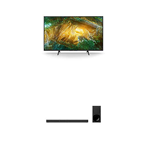 Sony KD-43XH8096 Bravia 108 cm (43 Zoll) Fernseher (Android TV, LED, 4K Ultra HD (UHD), High Dynamic Range (HDR)) Schwarz + 3.1-Kanal-Soundbar mit Dolby Atmos (Surround Sound, Bluetooth) Schwarz