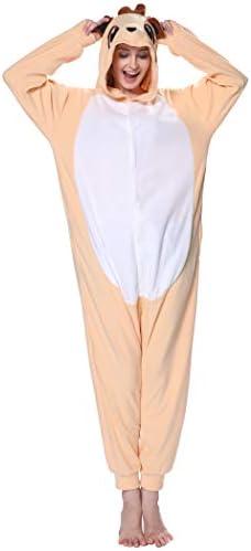 dressfan Animal Onesie Meerkat Pajamas Meerkat Costume One Piece Sleepwear Cosplay Costume Funny product image
