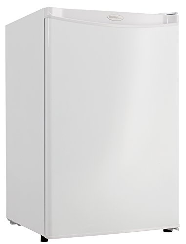 Danby cu. ft DAR044A4WDD-6 4.4 Cu.Ft. Mini Fridge, Compact Refrigerator for Bedroom, Living Room, Bar, Dorm, Kitchen, Office, E-Star in White