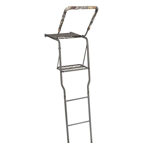 Guide Gear 15' Mesh Seat Ladder Tree Stand with Shooting Rail