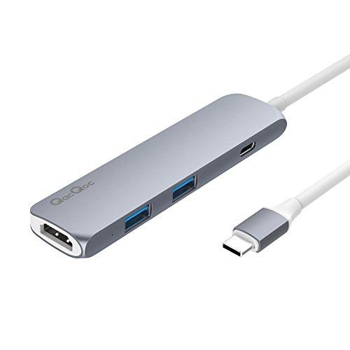 VPrix Chang Adaptador USB Tipo C con Puerto de Carga PD, Color Plateado