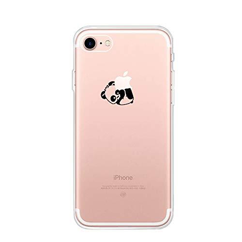 CrazyLemon Funda para iPhone 6 Plus / 6S Plus Fundas para teléfono, Funda Protectora para teléfono móvil Funda Protectora de Silicona Transparente TPU Bumper Case - Bajo Panda