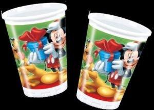 Mickey Mouse Christmas 8 bekers kinderverjaardag