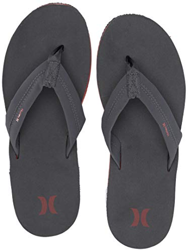 Hurley Men's Nike Lunarlon Lunar Flip Flop Sandal, Dark Grey/firewood Orange-FIREWO, 11 M US