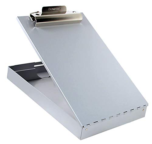 Saunders Recycled Aluminum Redi-Rite Storage Clipboard with Self-Locking Latch – Lightweight, Weather-Resistant Lacquer Finish Stationery Box. Office Products, Silver, Letter
