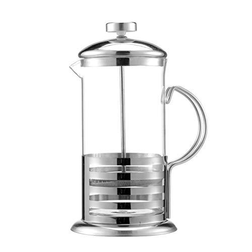 zhiwenCZW Cafetera manual de café expreso de acero inoxidable tetera de vidrio café francés té percolador filtro de prensa émbolo