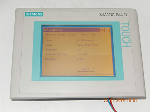 Siemens Indus.Sector Touch Panel 6AV6642-0BC01-1AX1 TP177B DP Panels 170 Grafik-Panel 4025515076490