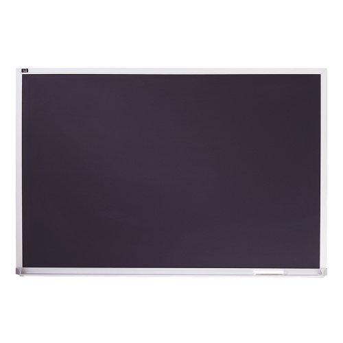 Quartet Porcelain Chalkboard, Magnetic Chalk Board, 3' x 4', Black Board, Aluminum Frame (PCA304B)