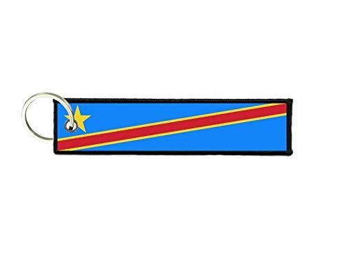akachafactory Schlüsselanhänger Auto Moto anhänger Flagge Fahne flaggen Kongo rdc
