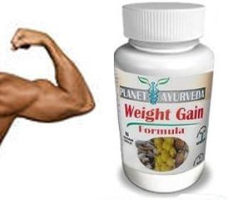 (60 Tablets) Planet Ayurveda Weight Gain Formula (GAIN Mass Men) Pills Gain Weight Men - Gain True Mass Easily!