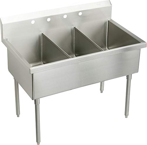 Find Bargain Elkay SS8354OF3 Commercial Sink Lustrous Satin Finish