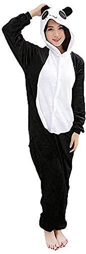 Mescara Einhorn Kostüm Pyjama Panda Damen Winter Karnevalumzüge Schalfanzug Jumpsuit Cosplay Anzug Hund Overall für Fasching Karneval Theater Halloween Pyjama-Party