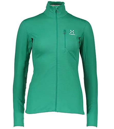Haglöfs LIM Mid Wander-Jacke leichte Damen Outdoor Sport-Jacke Freizeit-Jacke Frühlings-Jacke Grün, Größe:XS