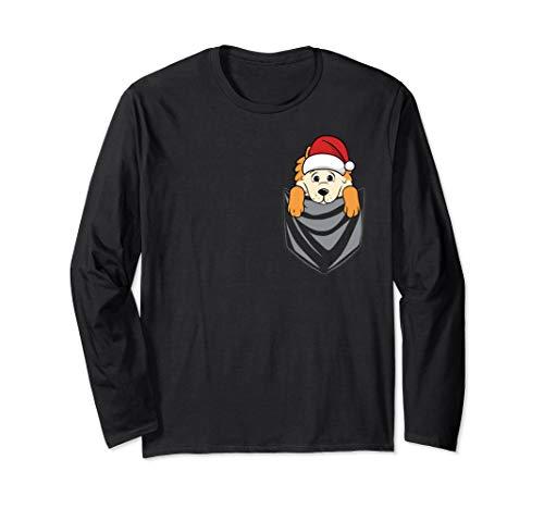 Pocket Graphic Pomeranian Weihnachten Hund Langarmshirt