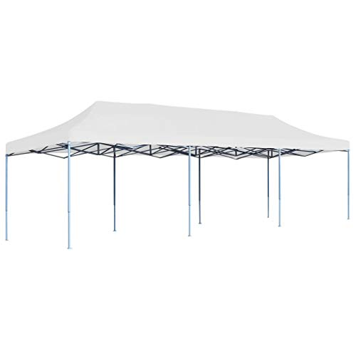 Goliraya Folding Pop-up Party Tent for Outdoor Events Sturdy Frame Light Weight 3x9 m White