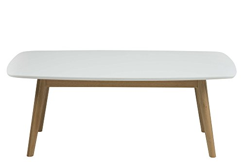 AC Design Furniture Table Basse, Chêne, Weiß