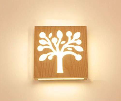 Massivholz Led Wandleuchte Schlafzimmer Wohnzimmer Gang Treppe Nachttischlampe Für Den Einsatz In Home Cafe Restaurant F