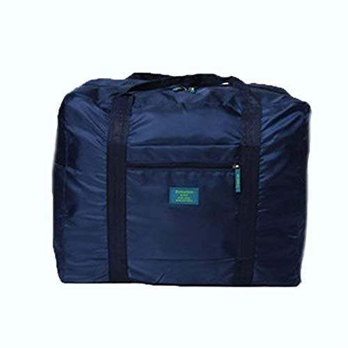 Opvouwbare waterdichte reishandtas koffer opbergtas grote capaciteit schoudertassen marineblauw